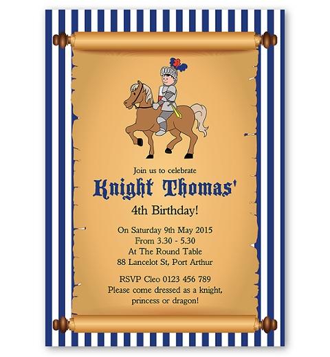 Little Knight Invitation