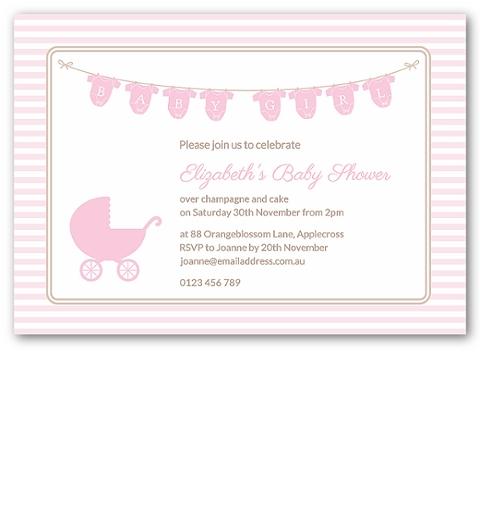 Onsie Baby Shower Invitation in Pink