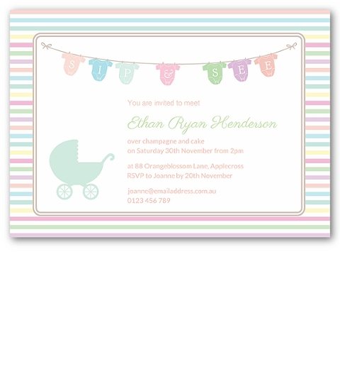 Pram Sip and See Invitation