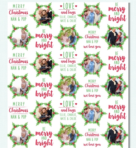 Mistletoe Wreath by Tori Benz Wrapping Paper
