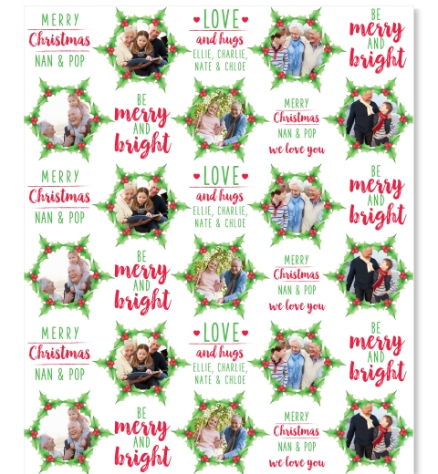Mistletoe Wreath Wrapping Paper