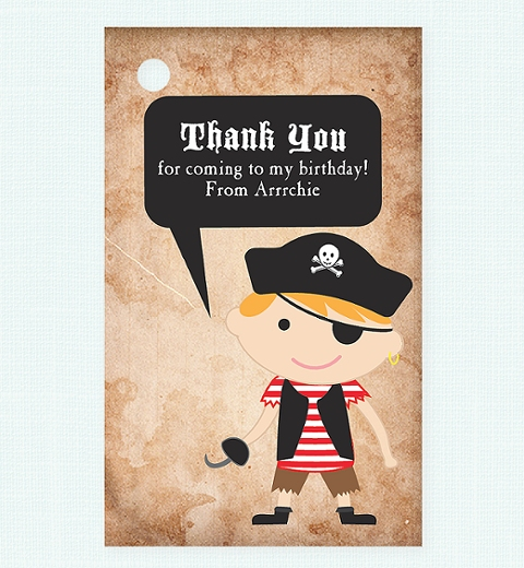 Pirate Thank You Gift Tag