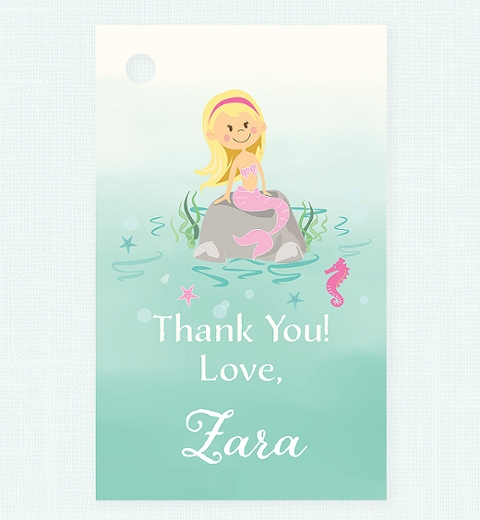 Mermaid Thank-you Tag