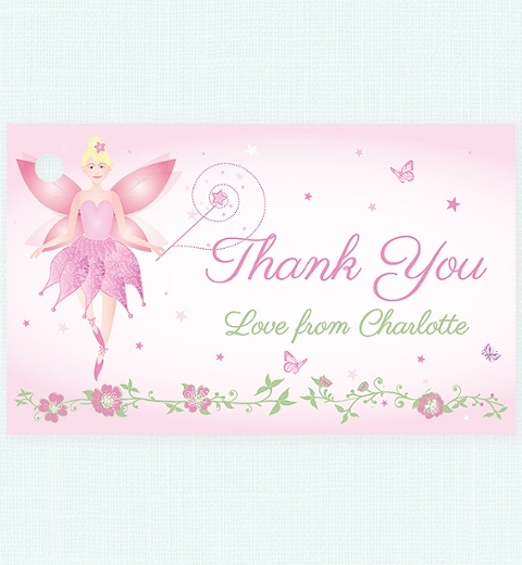 Fairy Thank you Tag