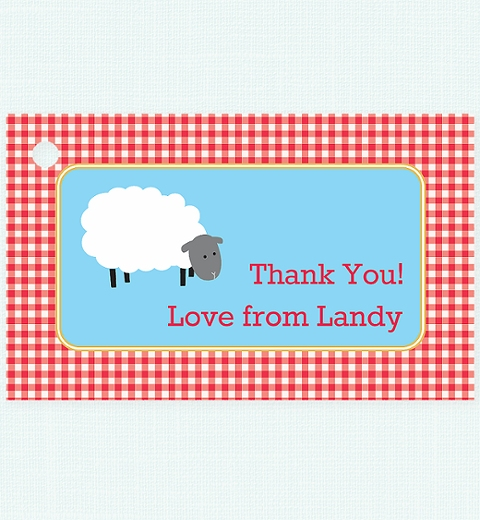 Farmyard Thank-you Tag