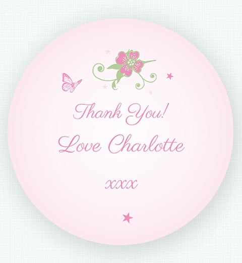Fairy Thank you Sticker