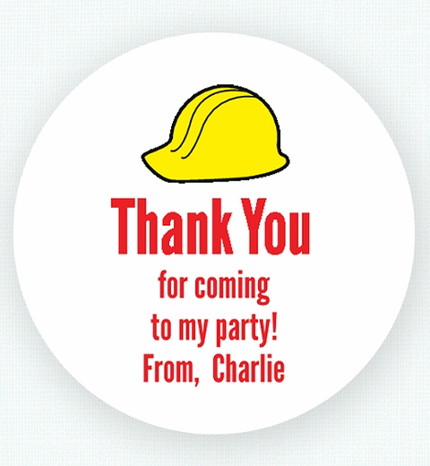 Construction Thank-you Sticker