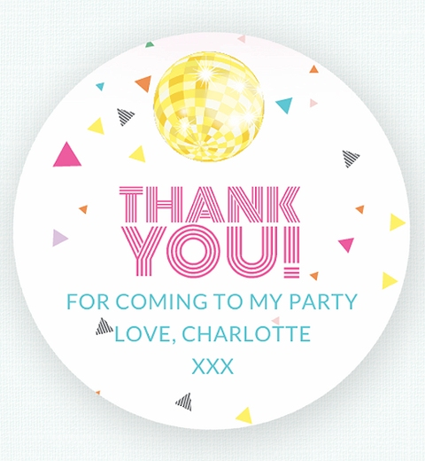 Disco Thank-you Sticker