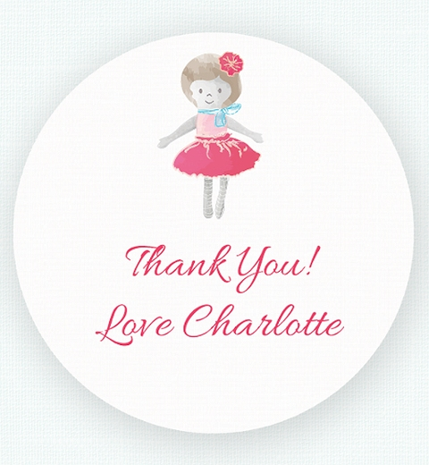 Dolly Thank You Sticker