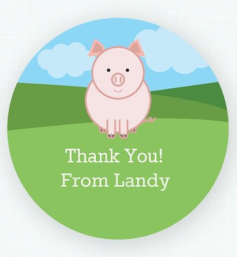 Farmyard Thank You Sticker