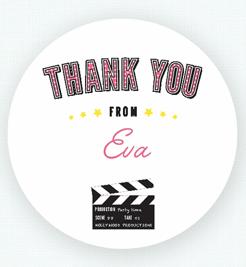 Movie Party for Girls Thank-you Sticker