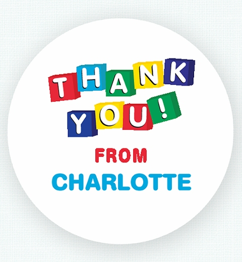 Play Centre Party Thank-you Sticker