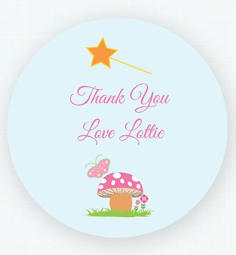 Garden Fairy Thank-you Sticker