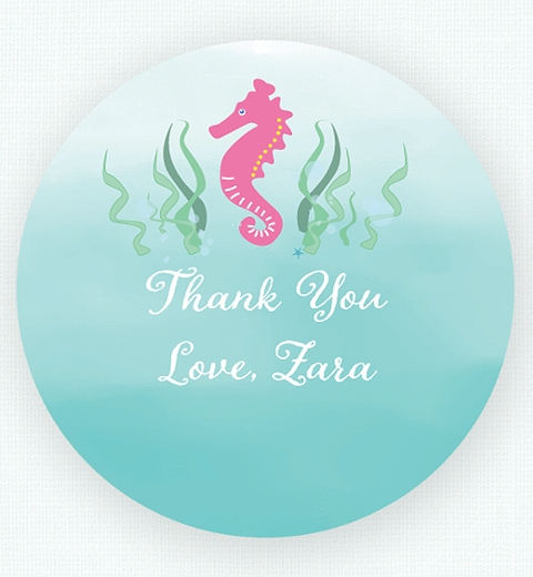 Mermaid Thank-you Sticker