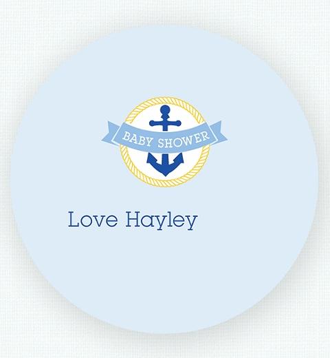 Nautical Baby Shower Thank-you Sticker