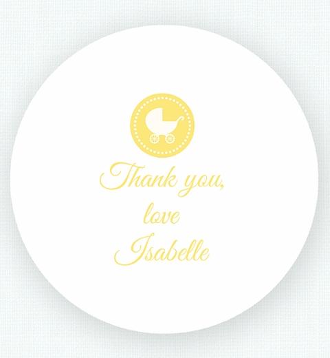 Lemon Chevron Baby Shower Thank-you Sticker