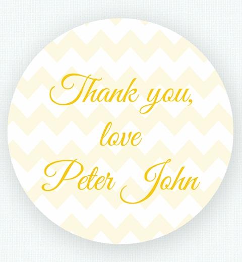 Lemon Chevron Birthday Thank-you Sticker