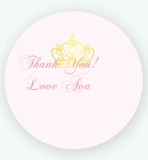 Princess Party Thank-you Sticker