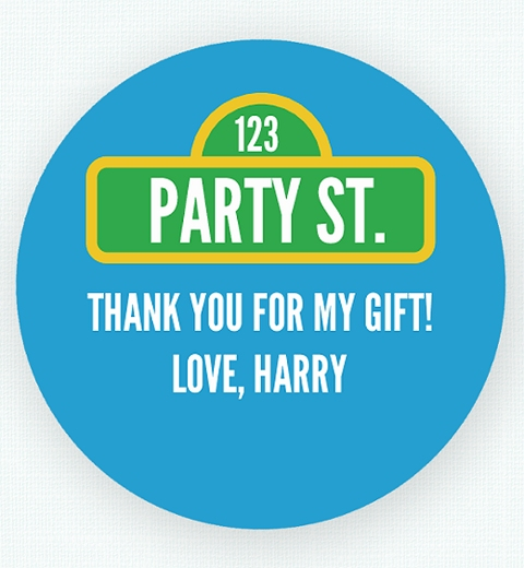 Party Street Thank-you Sticker