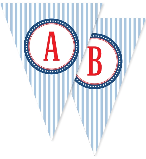 Blue Stripe Bunting Flags