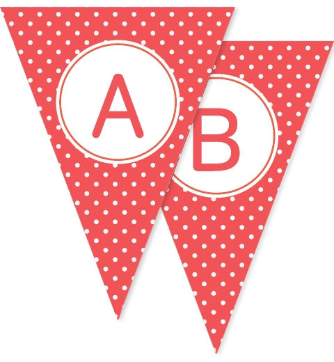 Red Polka Dot Bunting Flags