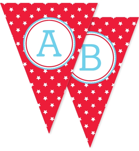 Red Star Bunting Flags