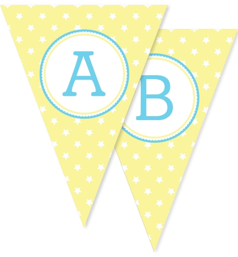 Lemon Star Bunting Flags