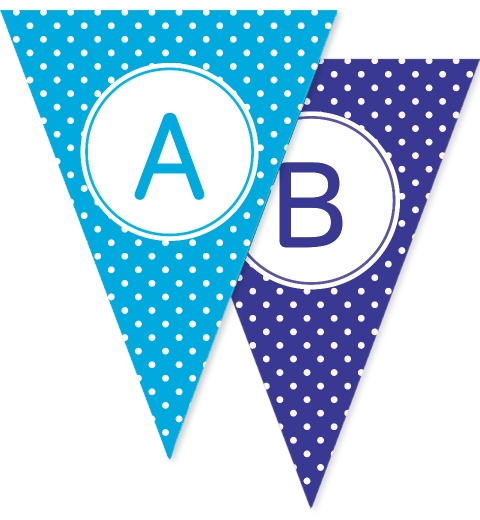 Rainbow Polka Dot Bunting Flags
