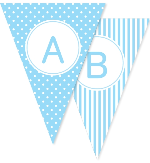 Blue Dots Stars & Stripes Bunting Flags