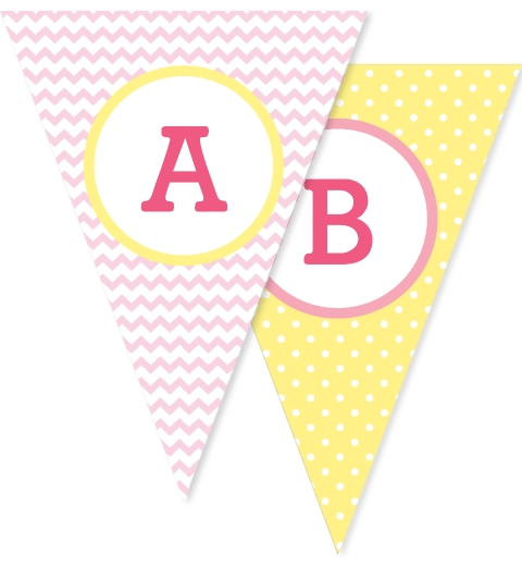 Pink & Buttercup Bunting Flags