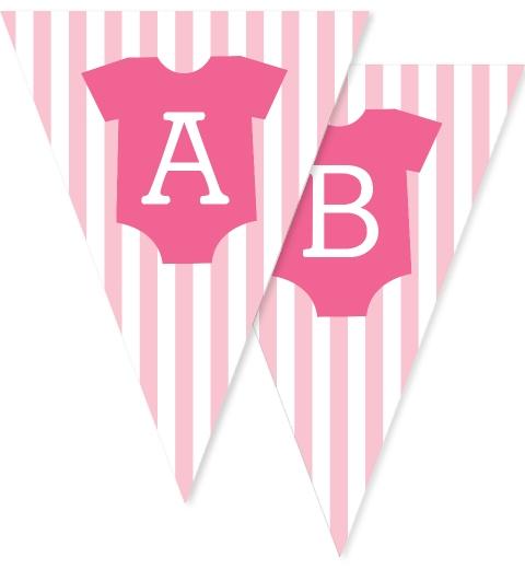 Baby Pink Onesie Bunting Flags