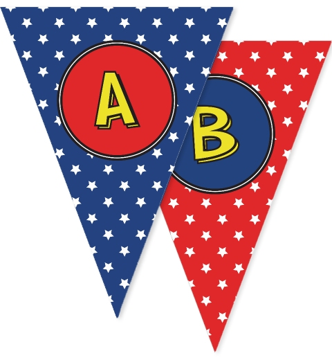 Super Hero Bunting Flags