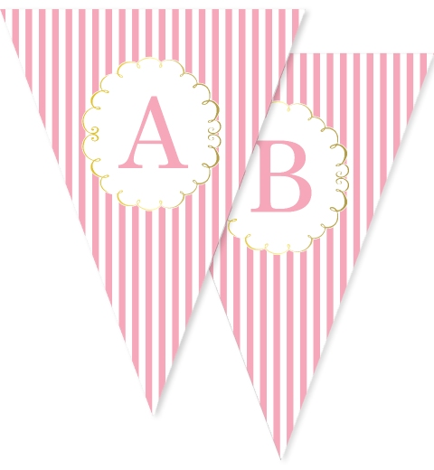 Princess Party Bunting Flags