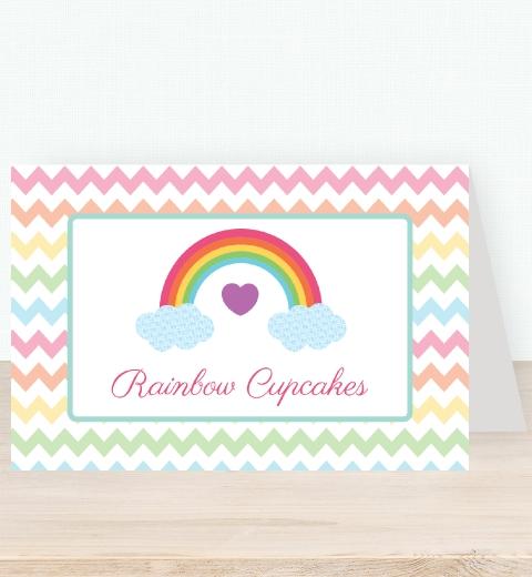 Rainbow Tent Card