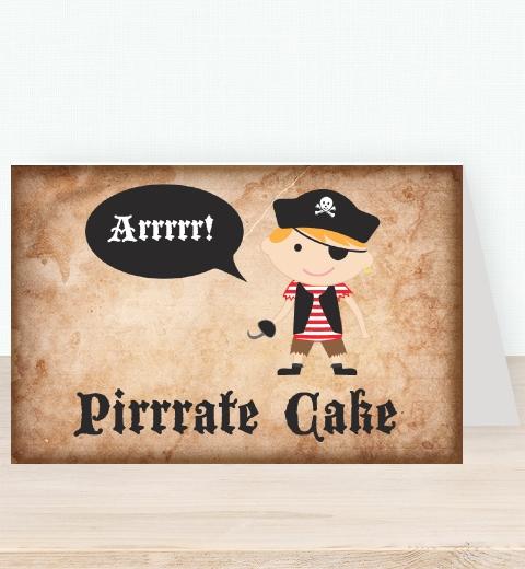 Pirate Tent Card