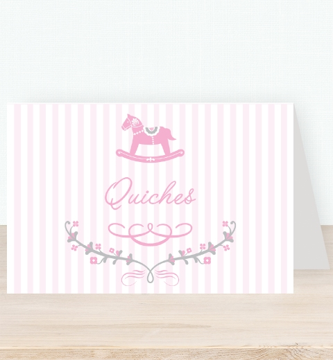 Rocking Horse Pink Tent Card
