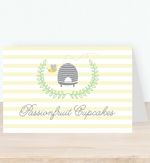 Bee Baby Shower Tent Card