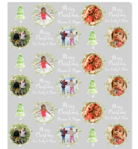 Painterly Christmas  Wrapping Paper with Photos