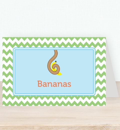 Cheeky Monkey Party Tent Card
