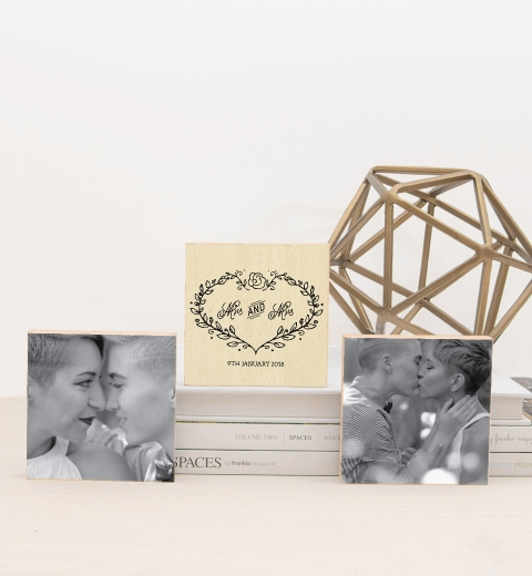 Mrs & Mrs Photo Blocks