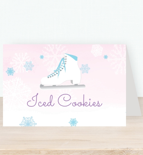 Ice Skating Tent Card