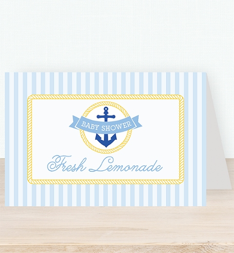 Nautical Baby Shower Tent Card
