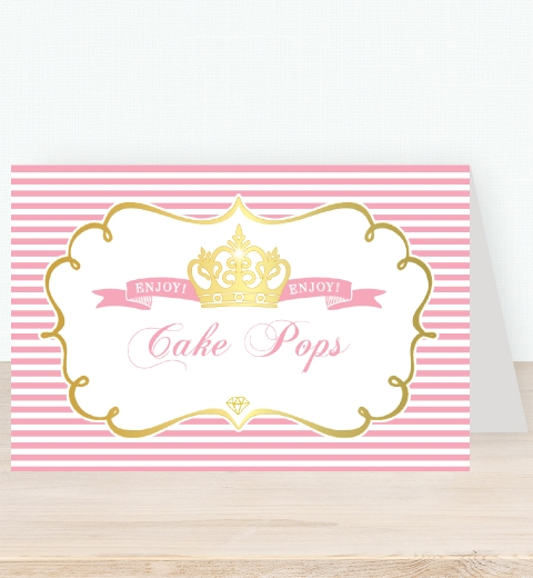 Princess Party Tent Card