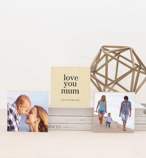 Simple Love You Mum Photo Blocks