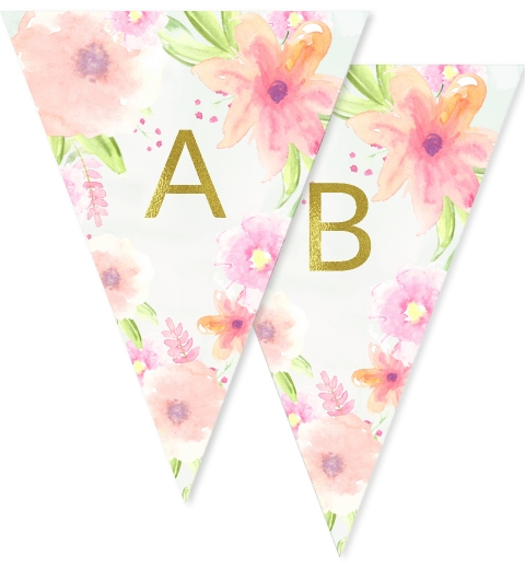 Gold Garden Party Bunting