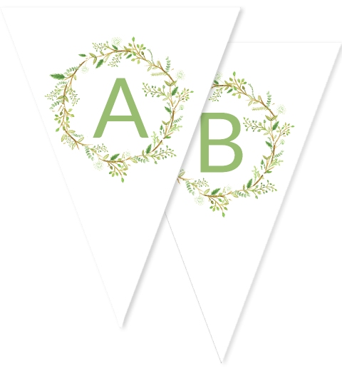 Green Wreath Bunting
