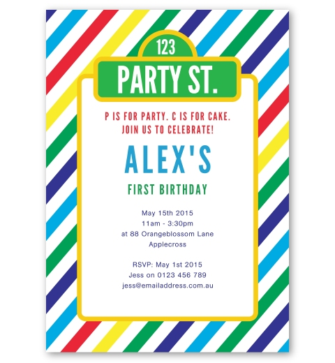 Girls birthday invitations love jk party street birthday invitation filmwisefo