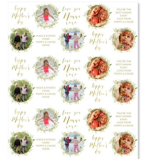 Green Wreath Mother's Day Wrapping Paper