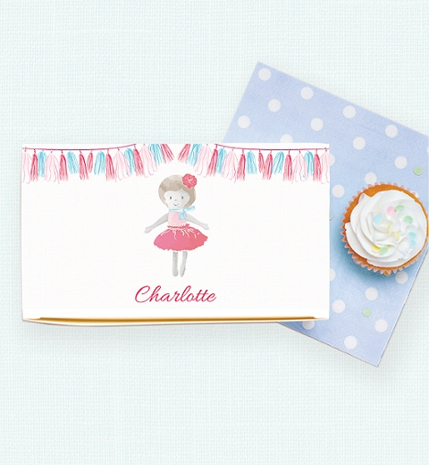 Dolly Lunch Box in Blush Pink & Baby Blue