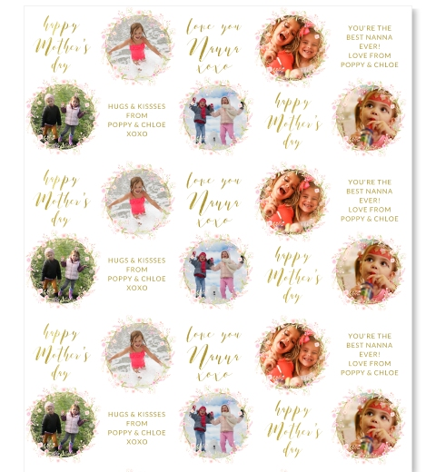 Pink Wreath Mother's Day Wrapping Paper